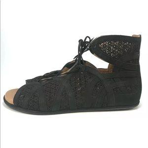 Gentle Souls Becka Gladiator Laser Cut Sandals